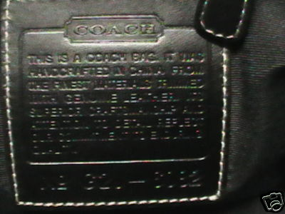 Coach Leather Tag